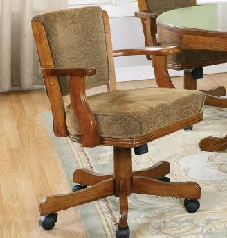 Coaster Mitchell Oak Game Chair Available Online in Dallas Fort Worth Texas