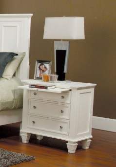 Coaster Sandy Beach White Night Stand Available Online in Dallas Fort Worth Texas
