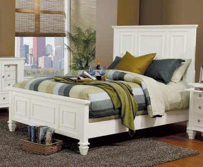 Coaster Sandy Beach White Queen Panel Bed Available Online in Dallas Fort Worth Texas