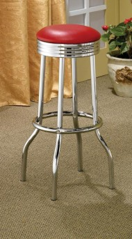 Coaster Cleveland Red Bar Stool Available Online in Dallas Fort Worth Texas
