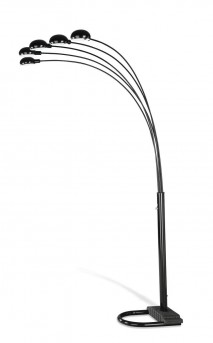 Coaster Satin Black Overhead Floor Lamp Available Online in Dallas Fort Worth Texas