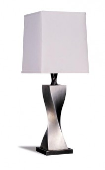 Coaster Satin Silver Table Lamp Available Online in Dallas Fort Worth Texas