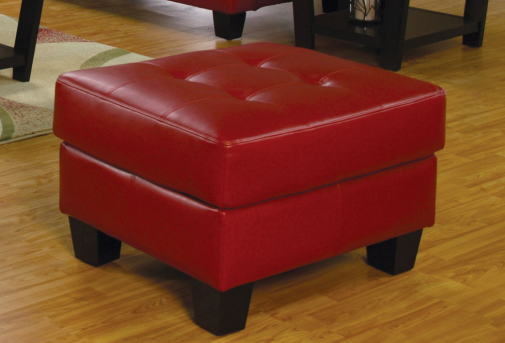 Coaster Samuel Red Ottoman Available Online in Dallas Fort Worth Texas