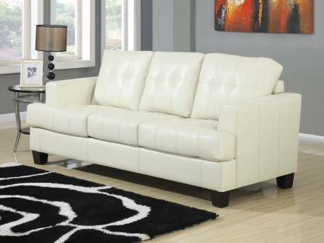 Coaster Samuel Cream Sofa Available Online in Dallas Fort Worth Texas