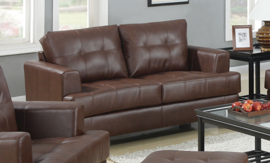 Coaster Samuel Dark Brown Loveseat Available Online in Dallas Fort Worth Texas