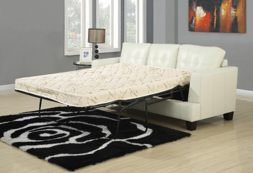 Coaster Samuel Cream Sleeper Sofa Available Online in Dallas Fort Worth Texas
