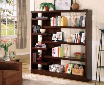 Coaster Asymmetrical Bookcase Available Online in Dallas Fort Worth Texas