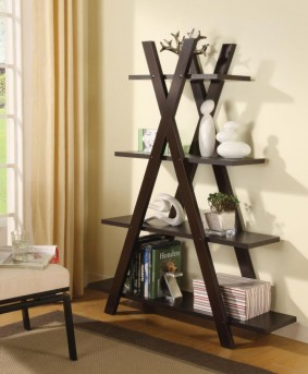 Coaster Interject Cappuccino Bookcase Available Online in Dallas Fort Worth Texas