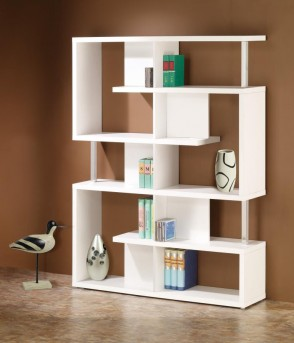 Coaster Brandy White Modern Bookcase Available Online in Dallas Fort Worth Texas
