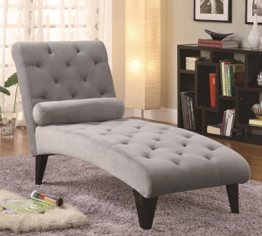 Coaster Monterrey Accent Seating Gray Chaise Available Online in Dallas Fort Worth Texas