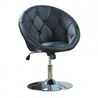 Coaster Dia Black Round Tufted Black Swivel Chair Available Online in Dallas Fort Worth Texas