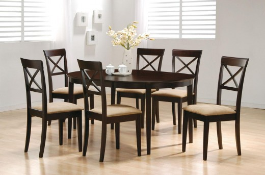 Hyde Oval 5pc Cross Back Dining Room Set Available Online in Dallas Fort Worth Texas