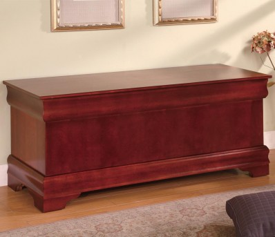 Coaster Louis Philippe Cherry Cedar Chest Available Online in Dallas Fort Worth Texas