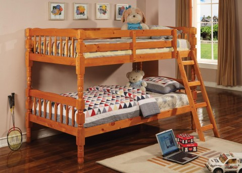 Haskell Honey Twin/Twin Bunk Bed Available Online in Dallas Fort Worth Texas