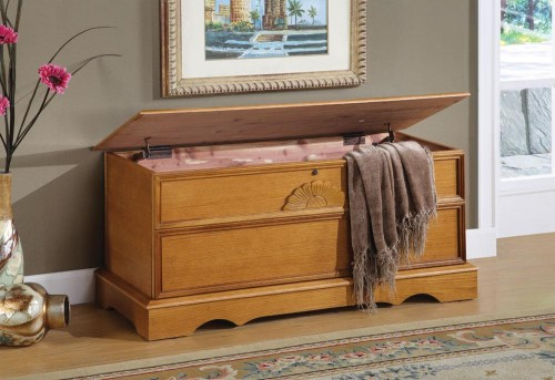 Coaster Oak Hope Chest Available Online in Dallas Fort Worth Texas