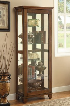 Coaster Beverely Espresso Slide Door Curio Available Online in Dallas Fort Worth Texas