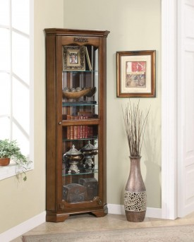 Coaster Oakley Corner Curio Available Online in Dallas Fort Worth Texas