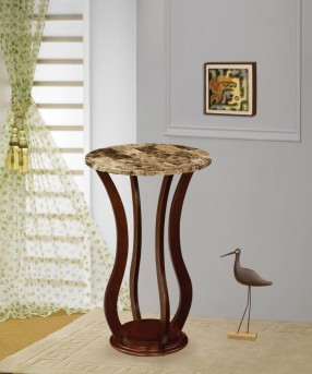 Coaster Taiwan Chocolate Round Marble Top Plant Stand Available Online in Dallas Fort Worth Texas