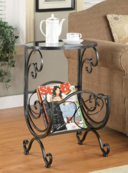 Coaster Scroll Chair Side Table Available Online in Dallas Fort Worth Texas