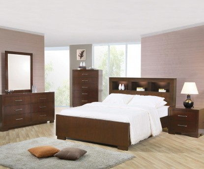 Coaster Jessica 5pc King Bookcase Bedroom Group Available Online in Dallas Fort Worth Texas