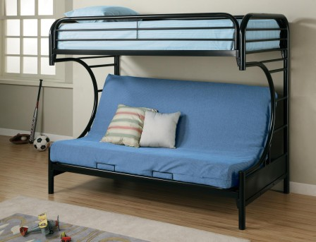 Coaster Fordham Black Twin/Futon Bunk Bed Available Online in Dallas Fort Worth Texas