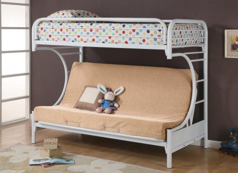 Coaster Fordham White Twin/Futon Bunk Bed Available Online in Dallas Fort Worth Texas