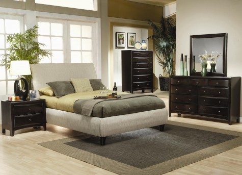 Coaster Phoenix Queen 5pc Upholstered Bedroom Group Available Online in Dallas Fort Worth Texas