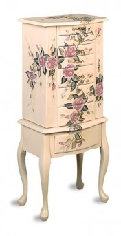 Coaster Floral Jewelry Armoire Available Online in Dallas Fort Worth Texas