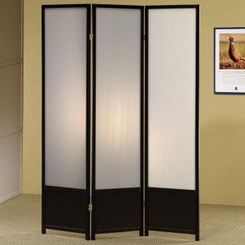 Coaster Saim Black Three Panel Folding Floor Screen Available Online in Dallas Fort Worth Texas