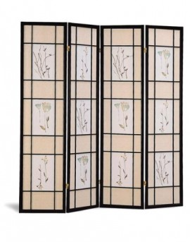 Coaster Floral Four Panel Room Divider Available Online in Dallas Fort Worth Texas