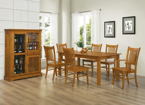 Coaster Marbrisa Mission Oak 7pc Dining Set Available Online in Dallas Fort Worth Texas