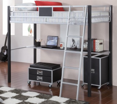 Coaster LeClair Twin Workstation Loft Bed Available Online in Dallas Fort Worth Texas