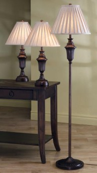 Coaster Sam Bronze 3pc Lamp Set Available Online in Dallas Fort Worth Texas