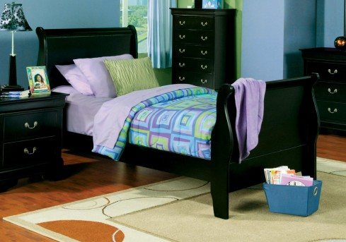 Louis Philippe Black Twin Bed Available Online in Dallas Fort Worth Texas