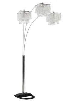 Coaster Poly Crystal Chrome Floor Lamp Available Online in Dallas Fort Worth Texas