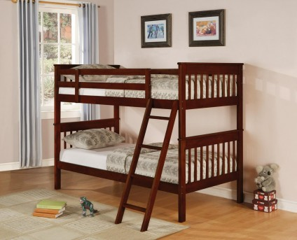 Mission Brown Twin / Twin Bunk Bed Available Online in Dallas Fort Worth Texas