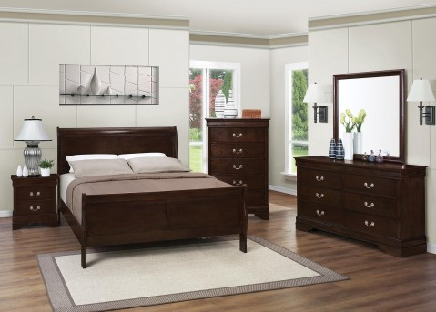 Coaster Louis Philippe Brown 5pc Queen Bedroom Group Available Online in Dallas Fort Worth Texas