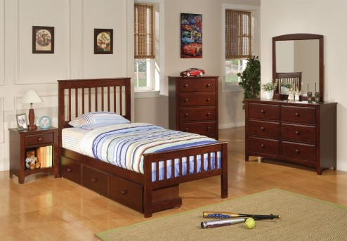 Parker Mission Storage 5pc Twin Bedroom Group Available Online in Dallas Fort Worth Texas