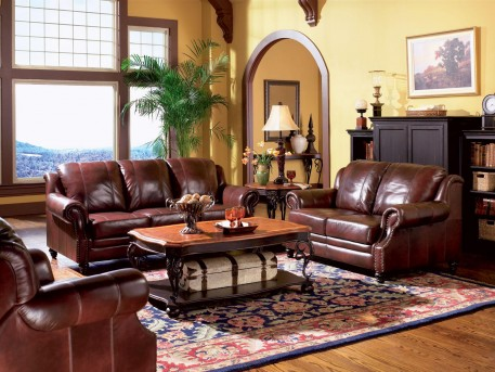 Coaster Princeton Leather Sofa & Loveseat Set Available Online in Dallas Fort Worth Texas
