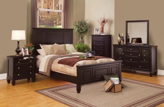 Sandy Beach Cappuccino 5pc King Panel Bedroom Group Available Online in Dallas Fort Worth Texas