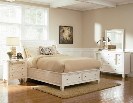 Sandy Beach White 5pc Queen Storage Bedroom Group Available Online in Dallas Fort Worth Texas