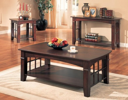 Anka Cherry 3pc Coffee Table Set Available Online in Dallas Fort Worth Texas