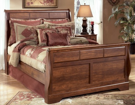 Timberline Queen Sleigh Bed Available Online in Dallas Fort Worth Texas