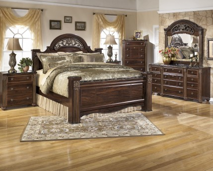 Ashley Gabriela 5pc Queen Poster Bedroom Group Available Online in Dallas Fort Worth Texas