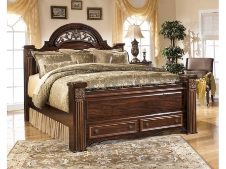 Ashley Gabriela Queen Poster Storage Bed Available Online in Dallas Fort Worth Texas