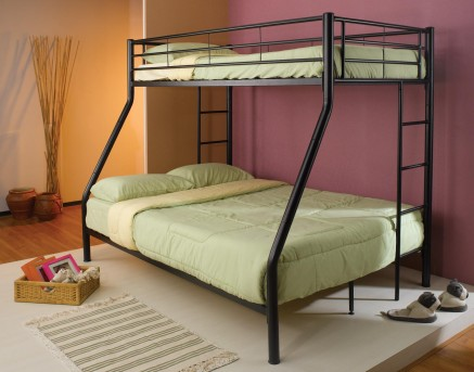 Coaster Denley Black Twin/Full Bunk Bed Available Online in Dallas Fort Worth Texas