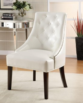 Avenue 5th White Accent Chair Available Online in Dallas Fort Worth Texas