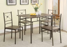Coaster James Bronze 5pc Dining Room Set Available Online in Dallas Fort Worth Texas