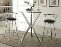 Saim Brak X-Shaped Chrome Pub Height Table Available Online in Dallas Fort Worth Texas