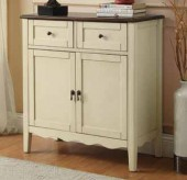 Coaster Vintage White Accent Cabinet Available Online in Dallas Fort Worth Texas